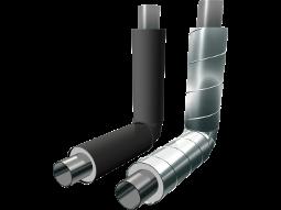 Отводы стальные в полиэтиленовой или оцинкованной трубе-оболочке