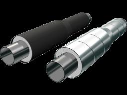 Переходы стальные в полиэтиленовой или оцинкованной трубе-оболочке