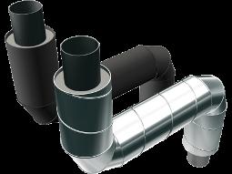 Z-образные элементы ППУ стальные в полиэтиленовой или оцинкованной трубе–оболочке