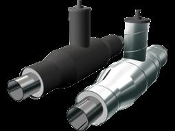 Краны шаровые ППУ стальные в полиэтиленовой или оцинкованной трубе–оболочке