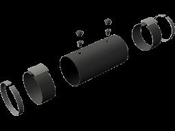 Комплектующие изделия ППУ-трубопроводов (КЗС, опоры скользящие, манжеты, маты, терминалы, детекторы и пр.)