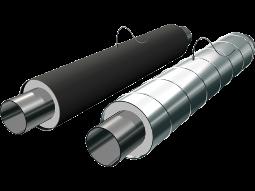 Элементы трубопроводов стальные в полиэтиленовой или оцинкованной трубе–оболочке