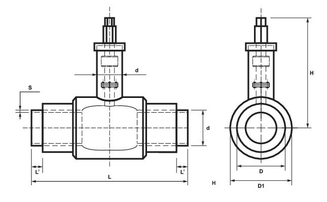 Краны шаровые в ППУ-изоляции схема