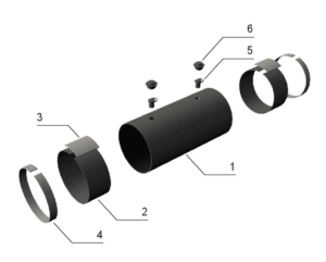 Комплект заделки стыка трубопровода ППУ