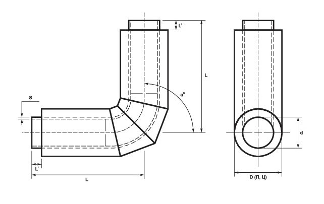 Отводы стальные в ППУ-изоляции ПЭ и ОЦ
