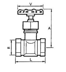 Схема устройства запорных вентилей Genebre
