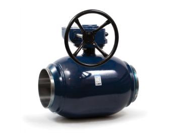 Полнопроходный шаровый кран Ситал с механическим редуктором
