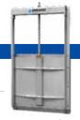 Задвижки шиберные Orbinox (прямоугольные щитовые затворы)
