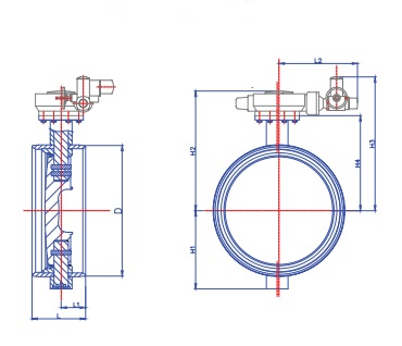 Затвор Ситал Т6-11-3 поворотный (схема)