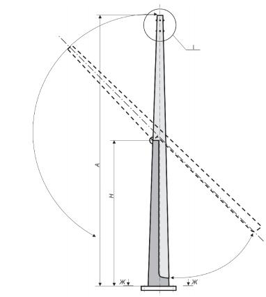 Схема опоры ОГКС