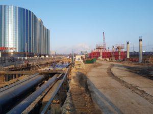 Строительство теплотрассы ППУ