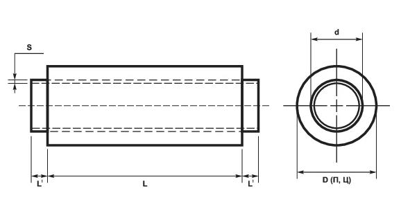 ППУ трубы стальные ОЦ ГОСТ 30732-2006 схема